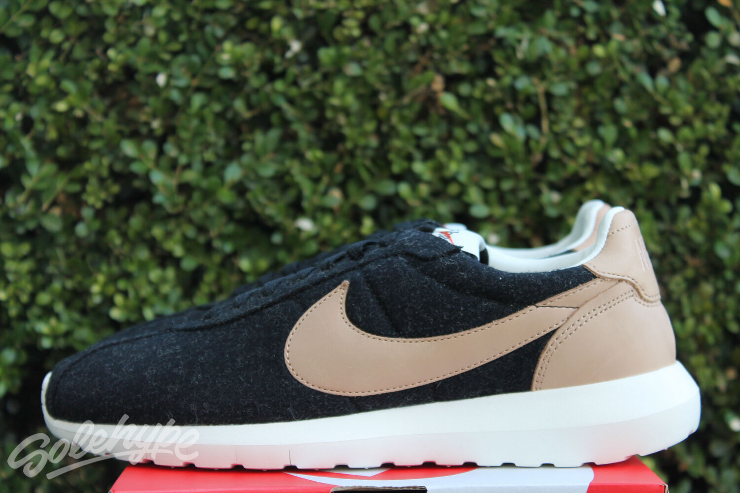NIKE ROSHE LD - 1000 SZ 001 10.5 WOOL BLACK VACHETTA TAN LEATHER 844266 001 SZ 46a08b