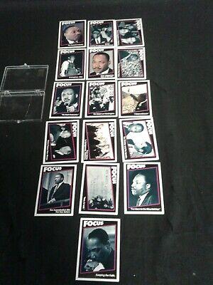 16 Martin Luther King Trading Cards Complete Set 1992 Unbeatables Focus Mlk Goede Metgezellen Voor Kinderen Evenals Volwassenen