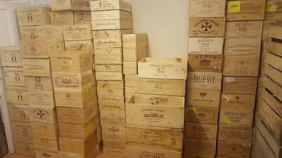 3 X Assortiti Dimensione Misto Francese Italiano In Legno Porta Vino Champagne Crate Scatole-mostra Il Titolo Originale Lucentezza Luminosa