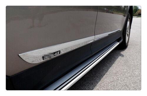 Chrome Door Side Body Molding Trim Garnish 4pcs for fit 2013-2018 Toyota RAV4