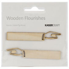 Wooden Flourishes HANDS scrapbooking crafts