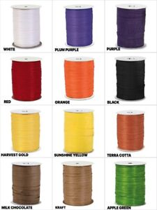 HALLOWEEN-Colors-PAPER-RAFFIA-1-4-034-Ribbon-Choose-Color-amp-10-Or-100-Yards