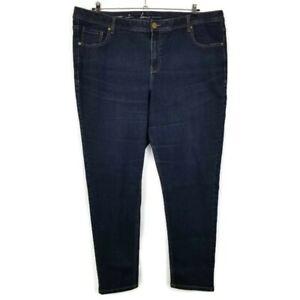 Lane-Bryant-Womens-Skinny-Jeans-Plus-Size-24-Dark-Wash-Denim