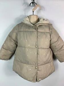 Le-Ragazze-Zara-Baby-Beige-Star-Imbottito-Inverno-Piumino-Cappotto-Bambini-Eta-18-24-mesi