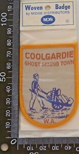 VINTAGE-COOLGARDIE-GHOST-MINING-TOWN-WA-EMBROIDERED-SOUVENIR-PATCH-CLOTH-BADGE