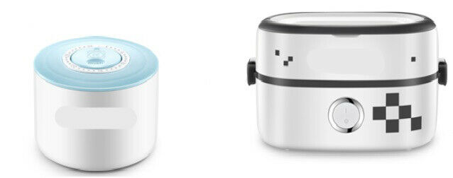 D10 Portable Ceramic Electric Lunch Box 1L Steamer Pot Heating Rice Cooker O