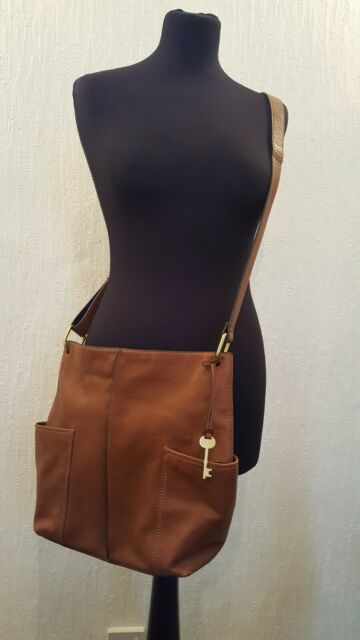 Fossil 'Lane' Crossbody Soft Brown Leather Bag - Superb Condition