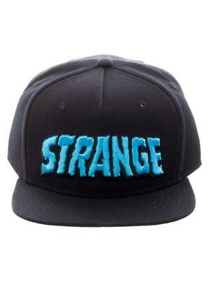 OFFICIAL MARVEL - DOCTOR STRANGE 'STRANGE' BLACK SNAPBACK CAP WITH PRINTED VISOR