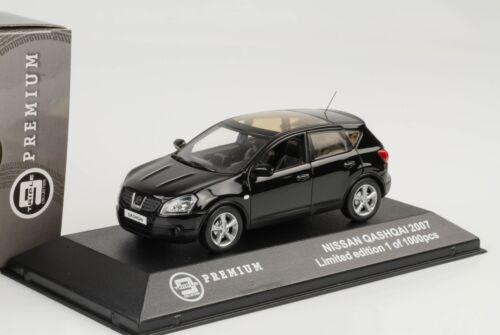 Nissan Qashqai SUV 2007 Negro 1:43 Triple9 Premium
