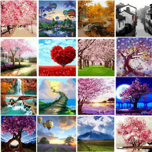 Details About 40 50cm Diy Acrylic Paint By Number Kit Oil Painting Wall Decor On Linen Tree