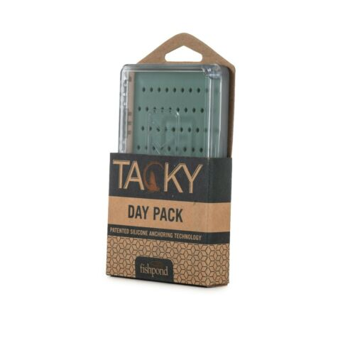 FISHPOND TACKY DAYPACK FLY BOX WITH MAGNETIC CLOSURE AND SILICONE FLY ANCHORING