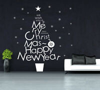 Merry Christams Happy New Year Snowflake Shop Window / wall stickers UK  SH12