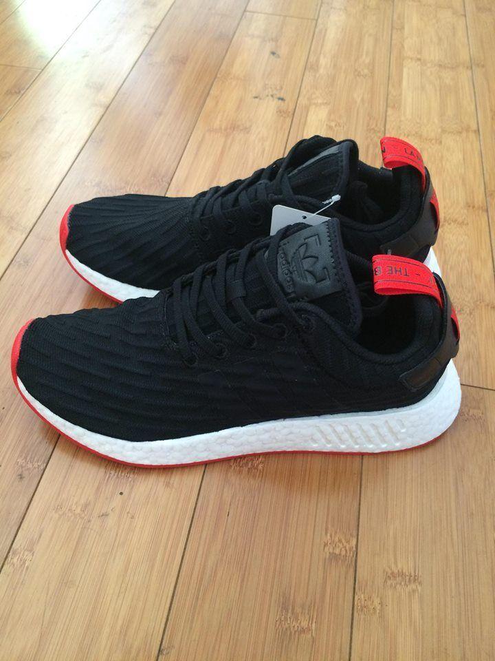 Adidas nero nmd_r2 pk nomade primeknit nero Adidas bianco, rosso ba7252 variet di dimensione 9862e9