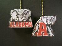 (2) Alabama Bama Crimson Tide Ceiling Fan Pulls
