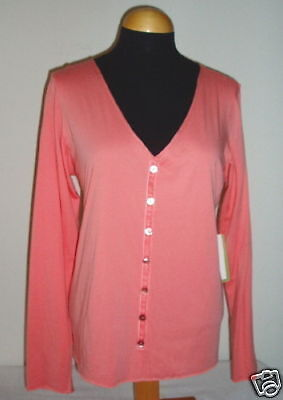 NWT Eileen Fisher Sunset Rosa Jersey Button-up  Top Cardigan XS