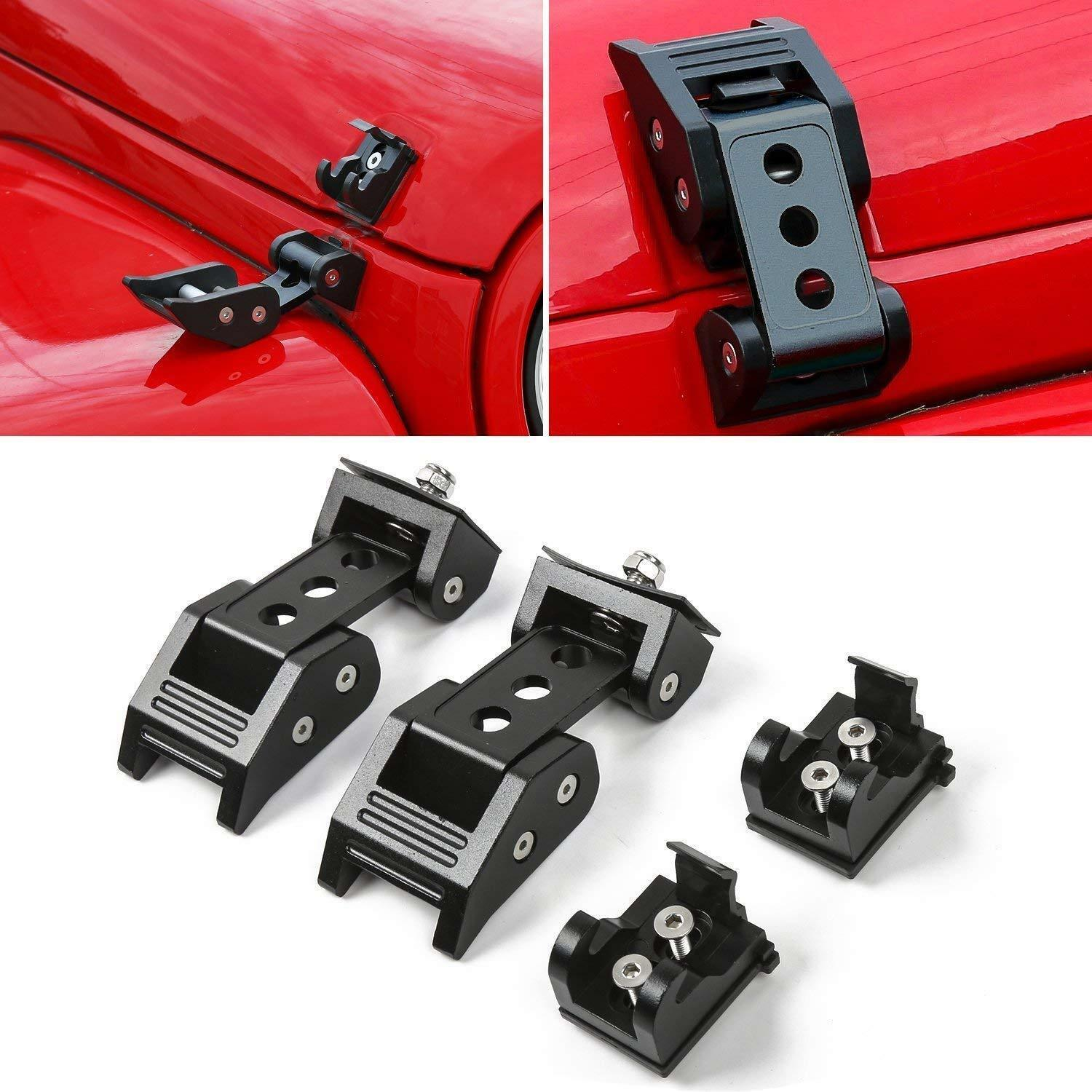 Fit Jeep Wrangler JK JL Unlimited Accessories Hood Latch Locking Catch Buckle