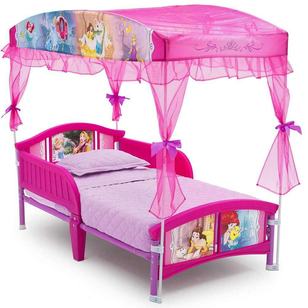 - Princess Toddler Bed Girls Disney Bedroom Canopy Pink Furniture