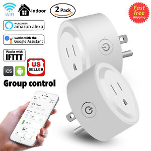 Details about 2Pcs Mini Smart Plug Outlet Wifi Socket Timer Work With  Amazon Alexa Google Home