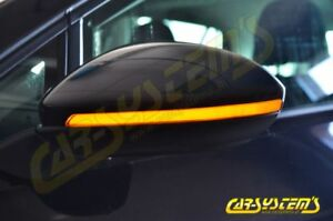 LED-Seitenblinker-Dynamisch-Spiegelblinker-Schwarz-VW-Golf-7-5G0-Touran-Dynamic