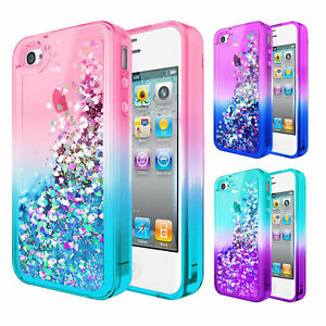 new products e0815 b647e Details about For Apple iPhone 4 / 4s | Glitter Liquid Bling Cute Girl  Phone Cover Case