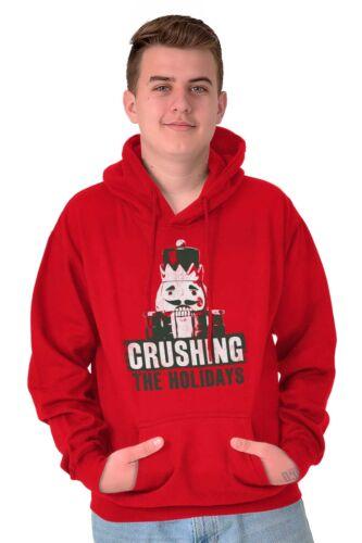 Christmas Nutcracker Crushing The Holidays Funny Xmas Joke Hoodie For Ladies