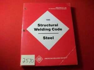 VINTAGE-1986-ANSI-STRUCTURAL-WELDING-CODE-STEEL-REFERENCE-MANUAL-EXCELLENT-INFO