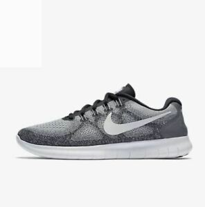 1891d90acc8 Nike Free RN 2017 Wolf Grey Off White Black 880839-002 Men s Running ...
