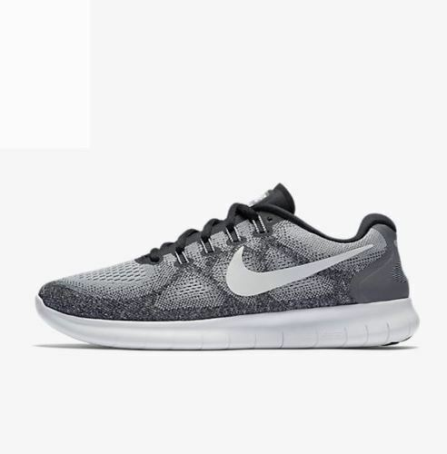 c3be746dcda9 Nike RN 2017 Mens 880839-002 Wolf Grey White Knit Running Shoes Size 8.5