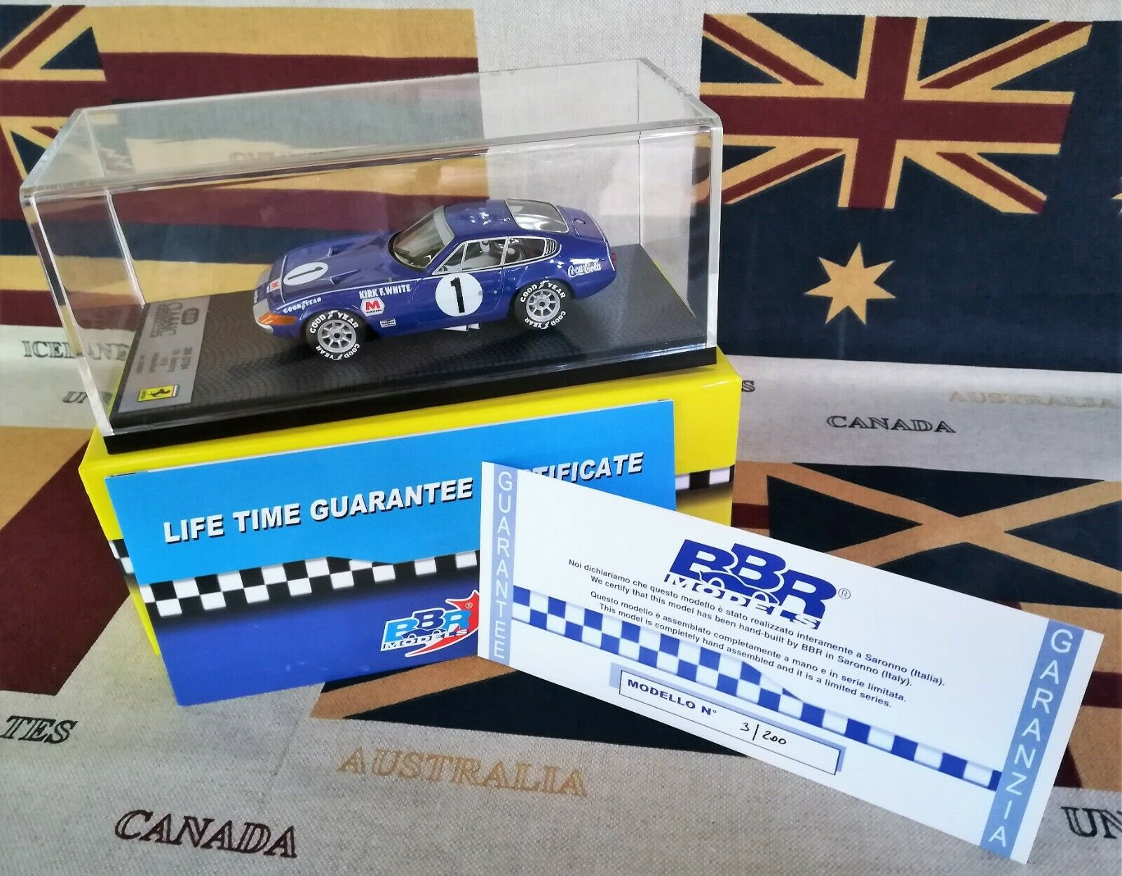 1 43 BBR bc49 Ferrari 365 GTB 12 H. Sebring  1 1972 Ltd. 003 of 200 pcs. AMR
