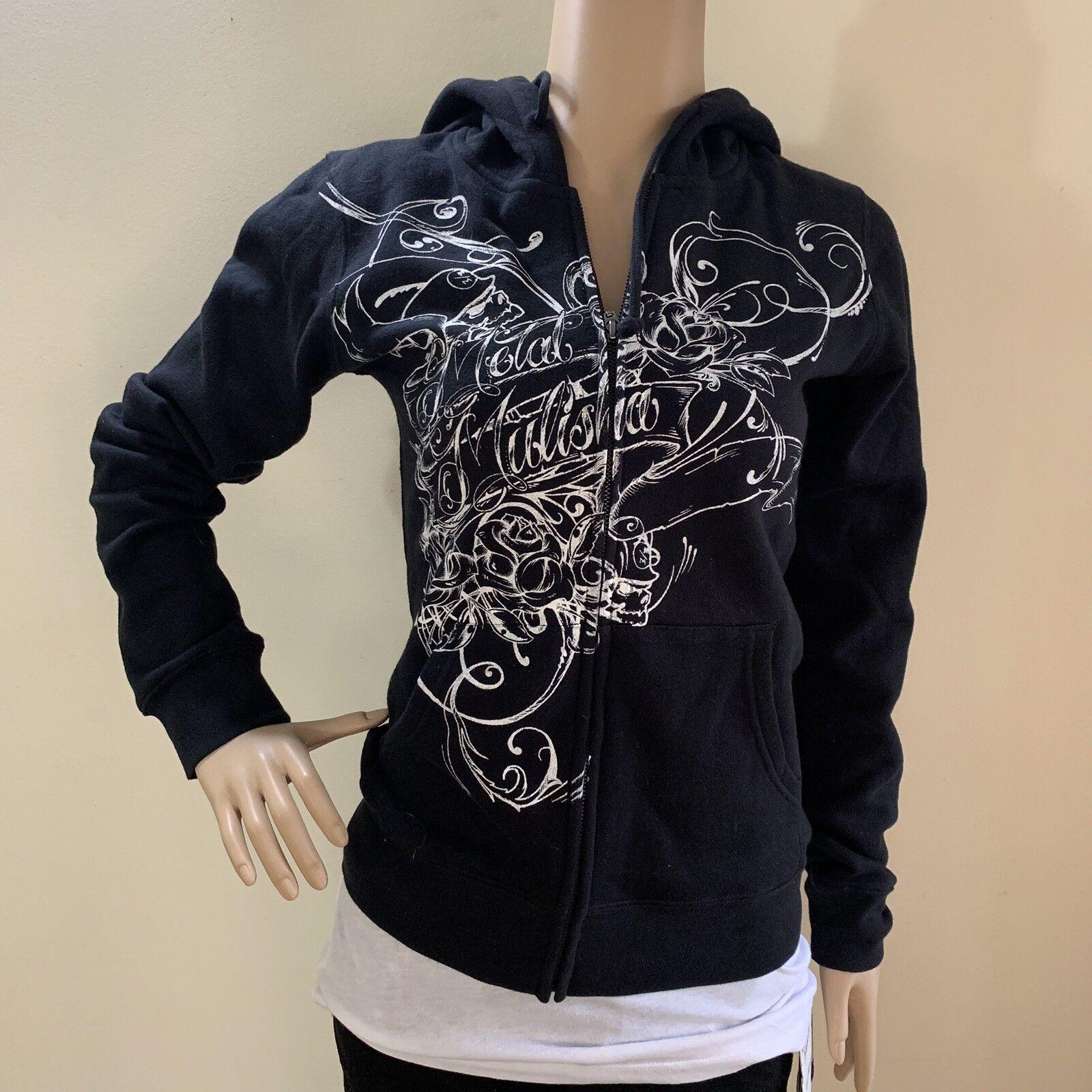 Metal Mulisha Ladies Standard Fleece Zip Hoodie Size S