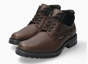 Men-039-s-Mephisto-Lukas-Ankle-Boot-Dark-Brown-Navy-Nevada-Smooth-Leather-Suede-Size