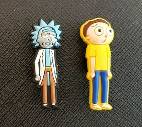 2 x Rick and Morty Shoe Charms PVC Rubber Holey Clogs shoes Charm