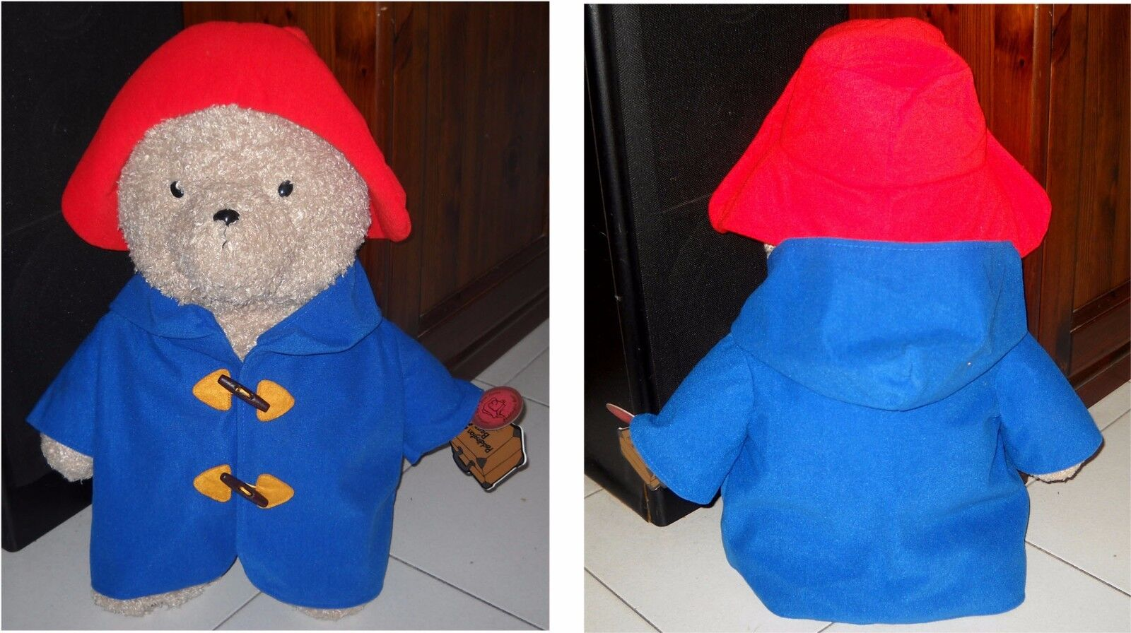 Peluche Orso PADDINGTON BEAR Hand-Crafted Established 1958 London 60 Cm