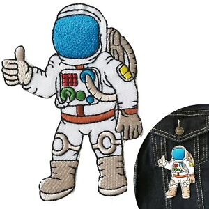 Astronaut-Iron-on-patch-Space-travel-hero-ISS-planet-moon-NASA-rocket-patches