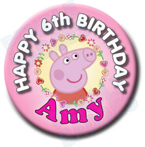 PEPPA-PIG-PERSONALISED-BIRTHDAY-BADGE-58mm