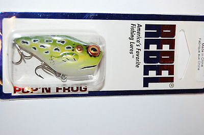 "rebel pop/'n popping popper frog  1 7//8/"" 3//16oz leopard frog bass topwater"