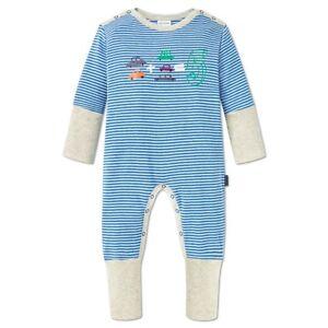 berühmte Designermarke neue hohe Qualität Bestbewertete Mode Details zu Schiesser Baby Schlafanzug Jungen 1-tlg Strampler ohne Fuß weiß  blau Gr. 56 - 86