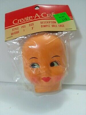 "Vintage Vinyl Doll Head 3/"" Hong Kong"
