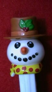 VINTAGE-PEZ-DISPENSERS-Christmas-Snowman-2002-WILL-COMBINED