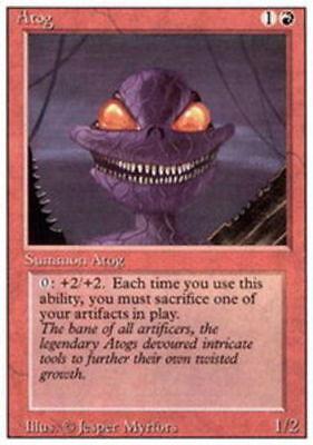 4 Atog ~ Red Mirrodin Mtg Magic Uncommon 4x x4