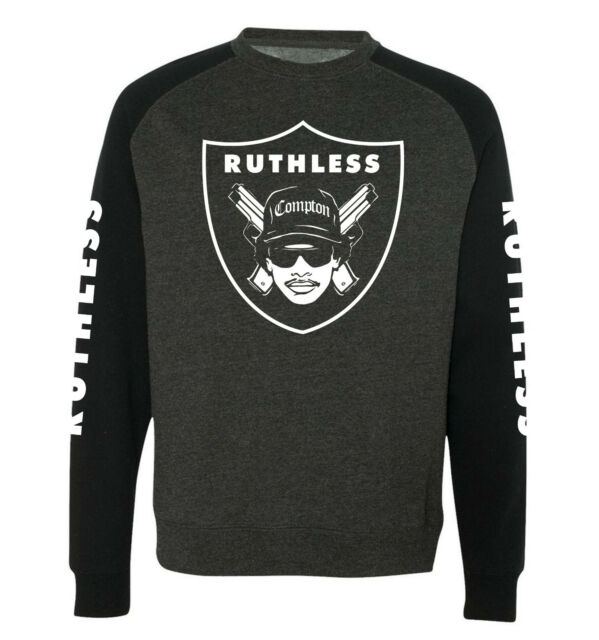 EAZY E 'Ruthless' Sweatshirt - Hip Hop, NWA, Raiders, Ice Cube, Rap, L.A Sweater