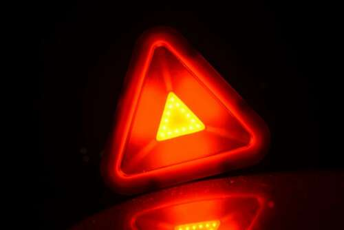 3W 140 Lumens COB Emergency Hazard Warning Light Triangle White Red Flashing