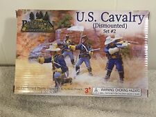 Paragon U.S. Cavalry Dismounted Set #2 12 Unpainted Plastic Figures 6 Poses 1/32