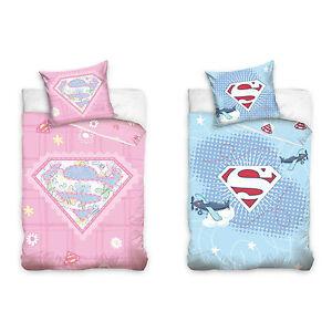 Superbaby-SUPERMAN-bebe-Linge-de-lit-pour-Enfants-100-x-135-cm