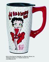11924 Betty Boopall That Brains Movie Star Icon Travel Mug Cup Tea Coffee Love