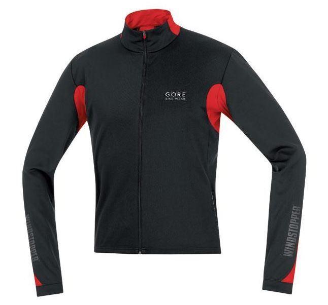 Gore Vélo VêteHommests Ozon Coupe-Vent Maillot Long Cyclisme - Noir Rouge
