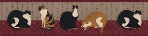 WARREN KIMBLE FAT CATS Wallpaper Border WK74757