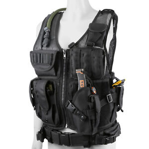 Plate-Carrier-Vest-Tactical-Military-SWAT-Police-Airsoft-Combat-Assault-Vest