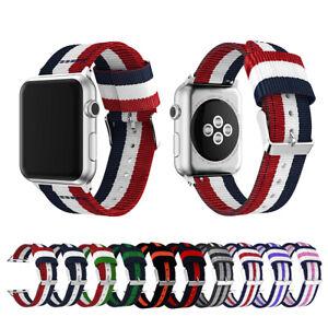 Woven-Nylon-Stripe-iWatch-Band-Strap-fr-Apple-Watch-Series-5-4-3-2-38-40-42-44mm
