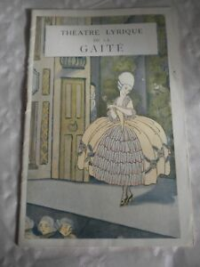 Periods & Styles Entertainment Memorabilia Vintage Programme Theatre Lyrique De La Gaite 1920s Art Deco Les Saltimbanques Utmost In Convenience